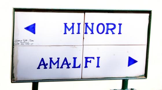 Amalfi Minori Sign