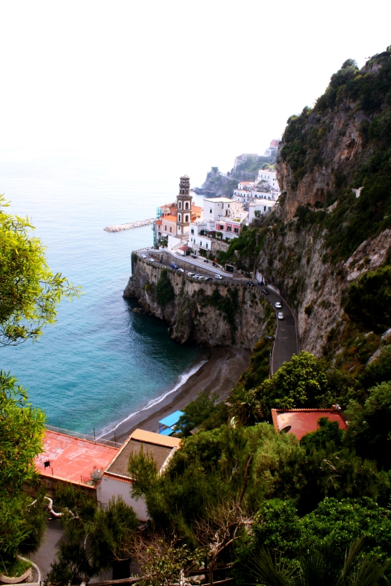 View of Coastal Village on the Amalfi Coast