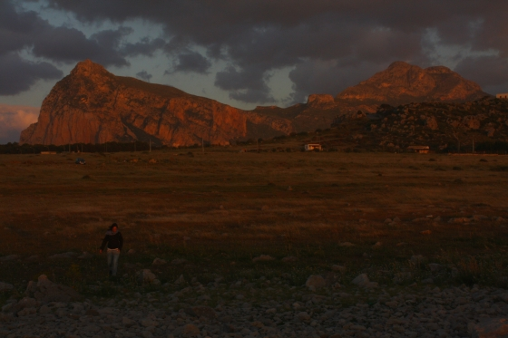 Sunset mountains at San Vito lo Capo in Sicily