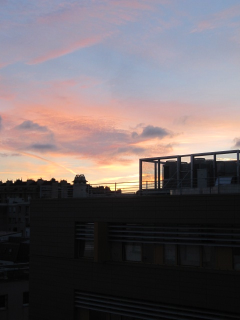 Sunset over the 13th arrondissement