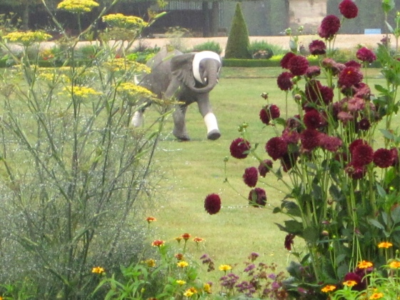 Elephant in the flowers ar Saint Germain en Laye